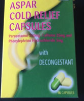 Aspar Cold Relief Capsules 16S Carton